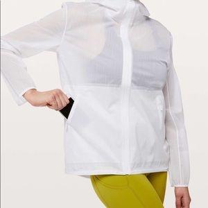 Lulu Lemon Sheer Joy White Running Rain Jacket